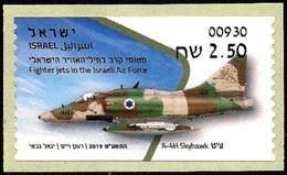ISRAEL 2019 - Israeli Air Force Fighter Jets - A-4H SKYHAWK - Afula ATM # 930 Label - MNH - Militaria