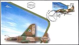 ISRAEL 2019 - Israeli Air Force Fighter Jets - A-4H SKYHAWK - Afula ATM # 930 Label - FDC - Militaria
