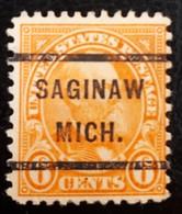 USA Scott # 638, Precancel Saginaw, Michigan, 1927 - United States