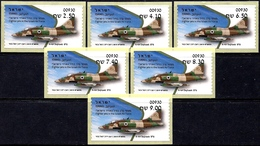 ISRAEL 2019 - Israeli Air Force Fighter Jets - A-4H SKYHAWK - 6 Afula ATM # 930 Labels - MNH - Militaria