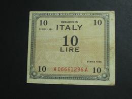 10 Dieci Lire Italy 1943 - Allied Military Currency - Série 1943  **** EN ACHAT IMMEDIAT **** - Geallieerde Bezetting Tweede Wereldoorlog
