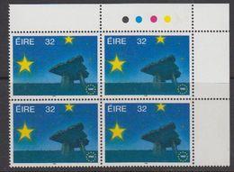 Ireland 1992 European Common Market 1v Bl Of 4 (corner) ** Mnh (43588A) - 1949-... Republiek Ierland