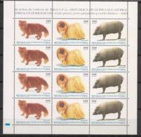 Guinée  équatoriale - 1995 - N°Yv. 327A à 327C - Feuillet Chat / Chien / Cochon - Neuf Luxe ** / MNH / Postfrisch - Hauskatzen