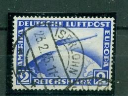 Deutsches Reich, Zeppelin über Weltkugel  Nr 423 Gestempelt - Gebraucht