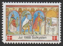 Denmark, 1988, Solkysten, Julemaerke, Christmas Stamp, MNH. - Denmark