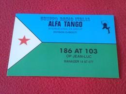 POSTAL POST CARD QSL RADIOAFICIONADOS RADIO AMATEUR GRUPPO ALFA TANGO ITALIA DJIBOUTI YIBUTI ÁFRICA AFRIQUE VER FOTOS - Tarjetas QSL