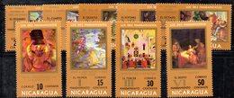 T1216 - NICARAGUA 1971 , Serie Yvert N. 920/928  ***  MNH (2380A) Quadri - Nicaragua