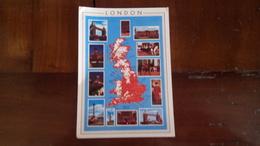 Londres - Carte Géographique - Multivues - London