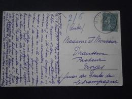 FRANCE TIMBRE 130 SEMEUSE LETTRE ENVELOPPE PLI COURRIER CARTE CP CACHET ROND PROVISOIRE MUTTERSHOLTZ BAS RHIN ALSACE - Alsace-Lorraine