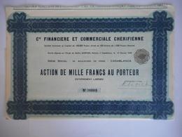 Financiere Et Commerciale CHERIFIENNE 92 Bd De PARIS     CASABLANCA       MAROC - Afrique