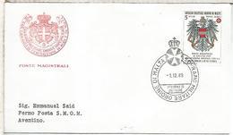 SOVRANO MILITARE ORDINE DI MALTA FDC 1989 ESCUDO - Malta (la Orden De)