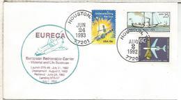 ESTADOS UNIDOS USA HOUSTON 1993  EURECA  SHUTTLE - Cartas