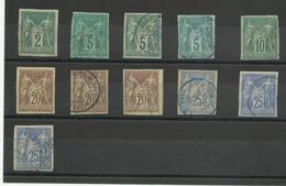 Lot De Timbres Col. Gen. Sage Type 2, TB, Cote YT 118€ - Sage