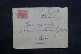GUYANE - Enveloppe ( Devant) De Cayenne Pour Paris En 1910 - L 35944 - Lettres & Documents