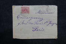 GUYANE - Enveloppe ( Devant) De Cayenne Pour Paris En 1910 - L 35945 - Lettres & Documents