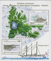 """TAAF Bloc-feuillet YT F630 """"Emission Commune Avec Monaco"""" 2012 Neuf** - Blocs-feuillets"""