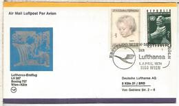 AUSTRIA CC PRIMER VUELO LUFTHANSA WIEN KOLN 1974 - Aéreo