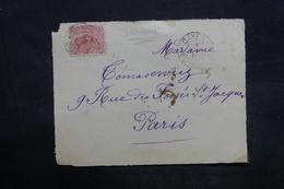 GUYANE - Enveloppe ( Devant) De Cayenne Pour Paris En 1910 - L 35946 - Guyane Française (1886-1949)