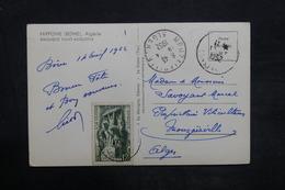 ALGÉRIE - Affranchissement De Bône Sur Carte Postale Pour Alger En 1952 - L 35947 - Covers & Documents