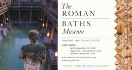 Grossbritannien Bath Eintrittskarte 1998 The Roman Baths Museum UNESCO Welterbe - Eintrittskarten