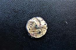 Calètes Quartn De Statère Aux Lignes Entremëlées Monnaie Fourrée - Keltische Münzen