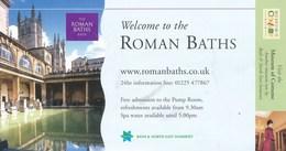 Grossbritannien Bath Eintrittskarte 2004 The Roman Baths UNESCO Welterbe Adult - Eintrittskarten
