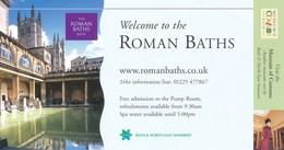 Grossbritannien Bath Eintrittskarte 2004 The Roman Baths UNESCO Welterbe Student - Eintrittskarten