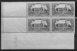 1936 1937 Algérie N° 124 (bloc De 4) Nf**/ Nf* MLH/ MNH . Coin Daté 25  4 .36 . L'Amirauté à Alger . - Algerije (1924-1962)