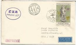 CHECOSLOVAQUIA CC PRIMER VUELO CSA PRAHA LENINGRAD 1968 - Corréo Aéreo