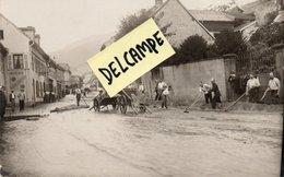 SAINTE MARIE AUX MINES-68-CARTE PHOTO-POMPIERS-NETTOYAGE SUITE INONDATIONS- - Sainte-Marie-aux-Mines
