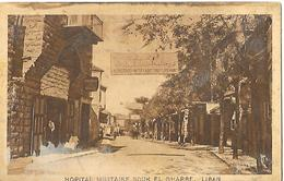 Guerre De 14/18-Service De Santé-CP De L'Hopital Militaire De Souk El Gharbe - Liban- Carte écrite Sans Date. - Militares