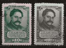 Russie 1952 N°Y.T. ; 1608 Et 1609 Obl. - Used Stamps