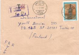 Togo 1990 Lome Be TRI No.1 Woman Dress Underfranked Taxed Cover - Togo (1960-...)