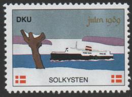 Denmark, 1989, Solkysten, Julemaerke, Christmas Stamp, MNH. - Other