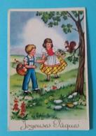Carte Enfants Joyeuses Paques Photochrom N°547 - Pâques