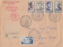 Enveloppe  FRANCE   Oblitération   Exposition   LA  FAYETTE     LE  HAVRE   1957 - Postmark Collection (Covers)