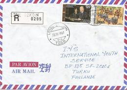 Togo 1987 Lome Tokoin G-4 Konrad Adenauer Pottery Market Registered Cover - Togo (1960-...)