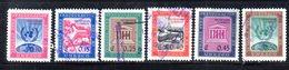 APR1928 - NICARAGUA 1958 , Serie Yvert N. 832/837  Usata (2380A) Unesco - Nicaragua