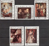 Repubica De Niger 1977. Paintings. Pintor Rubens. Mi 607 / 611. MNH. **. - Níger (1960-...)