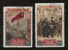 Russie 1953 N°Y.T. ; 1662 Et 1663 Obl. - Used Stamps