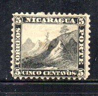 APR1926 - NICARAGUA 1869 , Yvert N. 5  *  Linguella Forte (2380A) - Nicaragua