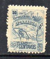 APR1929 - NICARAGUA 1896 , Yvert N. 86  *  Linguella Forte (2380A) - Nicaragua
