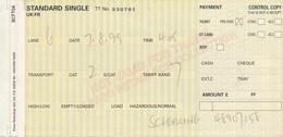 Grossbritannien Eisenbahn Fahrkarte 1999 EuroTunnel Grossbritannien => Frankreich - Spoorwegen