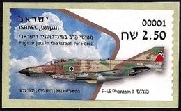 ISRAEL 2019 - Israeli Air Force Fighter Jets - F-4E PHANTOM II - Philatelic Bureau ATM # 001 Label - MNH - Militaria