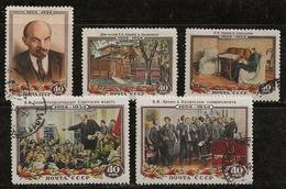Russie 1954 N°Y.T. ; 1679 à 1683 Obl. - Used Stamps