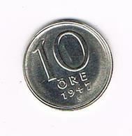 //  ZWEDEN  10  ORE  1947 TS ZILVER - Suède