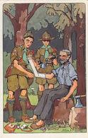 Pfadfinder Als Samariter - Sign. A. Kow        (A-100-70816) - Pfadfinder-Bewegung