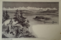 Suisse (BE) Gruss Aus Biel (Litho?) Ca 1900 - BE Berne