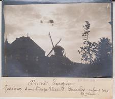 1911 CIRCUIT EUROPÉEN VEDRINES UTRECHT BRUXELLES SOUS LA PLUIE 18*13CM Maurice-Louis BRANGER PARÍS (1874-1950) - Aviación
