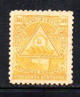 APR1932 - NICARAGUA 1898 , Yvert N. 106  *  Linguella Forte (2380A) - Nicaragua